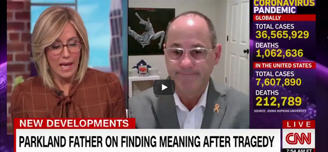 CNN New Day– Parkland Father on Finding Meaning After Tragedy